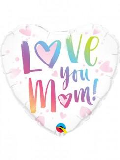 Love You Mom Heart Balloon
