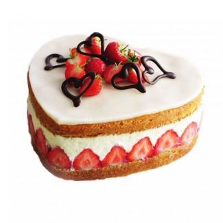 Fraisier Heart cake