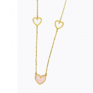 Hearts Gold Necklace