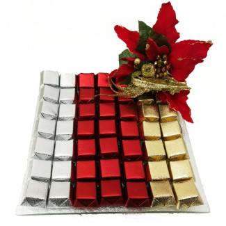 Christmas Chocolate in a Square plate