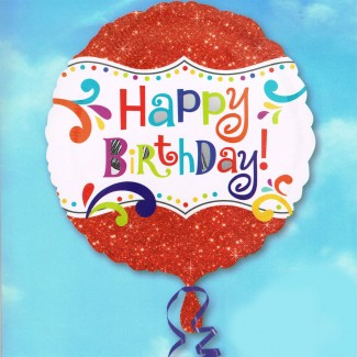 Special Happy Birthday red Balloon