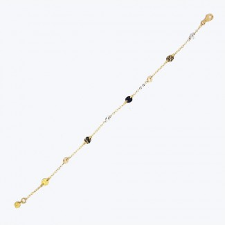 Gold Bracelet with Circles