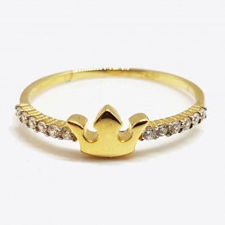 Crown Gold Ring