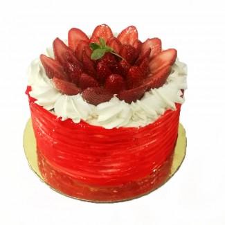 Queen Fraisier Cake