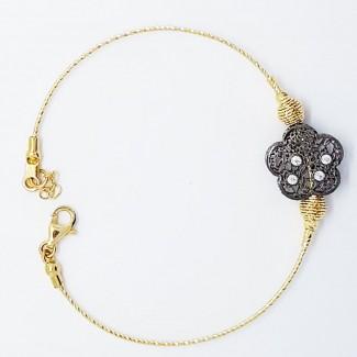 Gold Circle Flower Bracelet