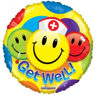 Get Well Smiley Balloon