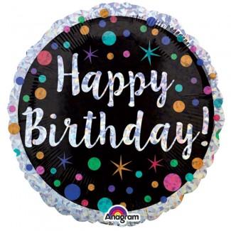 Polka Dot Happy Birthday Balloon