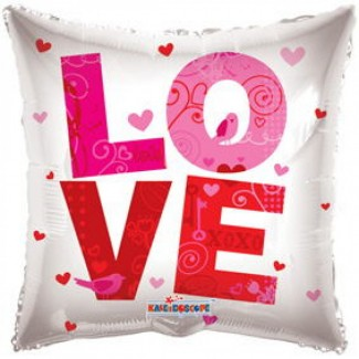 Love Square Helium Balloon 20 Inch
