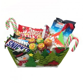 Sweets in a Christmas Basket
