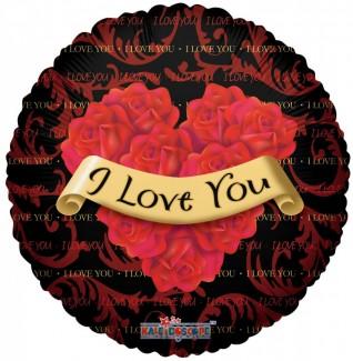 I Love You Roses Helium balloon