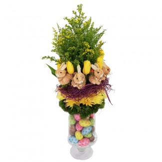 Easter Bunnies Flowers Arrangement