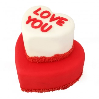 Love you two Layers Cake