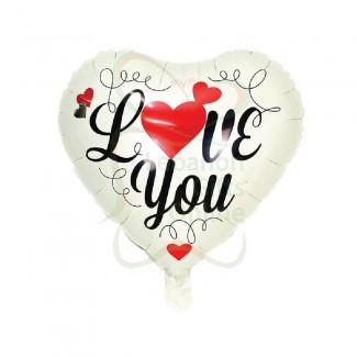 White Heart Love Balloon