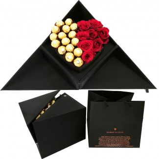 Elegance with Chocolate and Roses