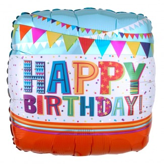 Bright balloon birthday
