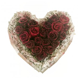 Gliter Heart shaped Roses