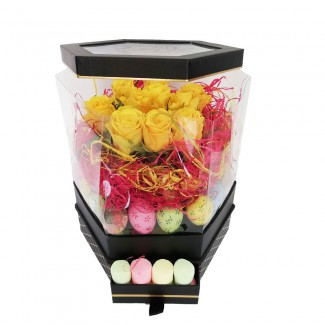 Easter Yellow Roses Box