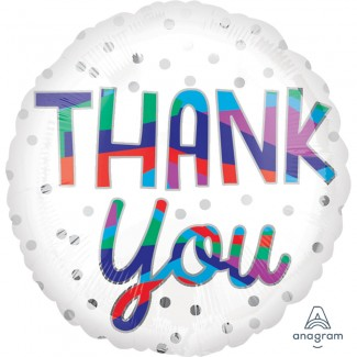 Thank You Silver Dot Balloon