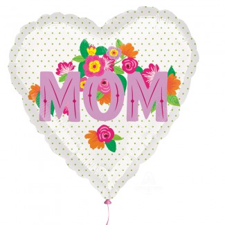 Mom Balloon with printed flowers