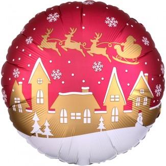 Santa Village Balloon