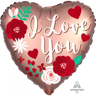 I Love You Satin Heart Balloon