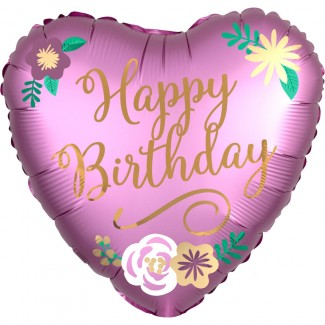 Flower birthday balloon