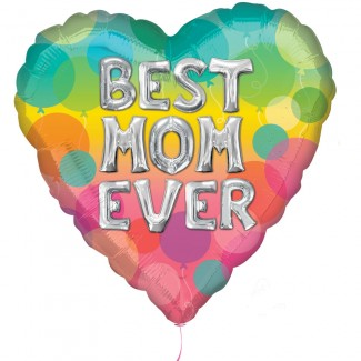 Balloon Best Mom Ever letters