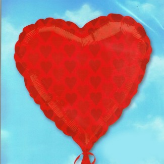 Red Heart Shapes Balloon