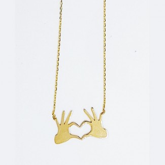 Your Heart is in My Hands Necklace