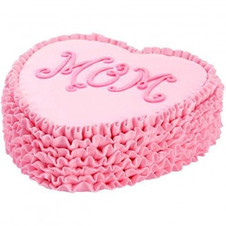 Pink Heart Mom Cake