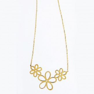 Flowers Gold Necklace