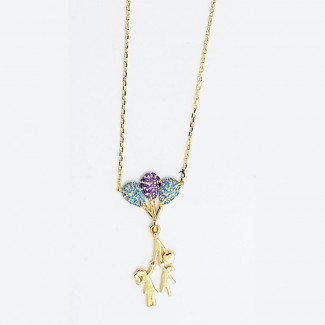 Flying With Love Gold Necklace