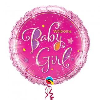 Welcome baby Girl Helium Balloon