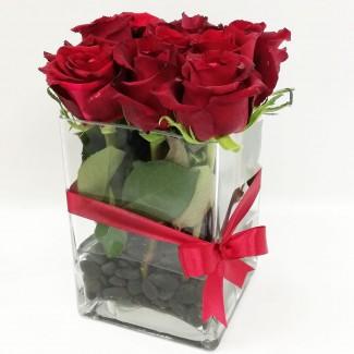 Elegant Roses Cube