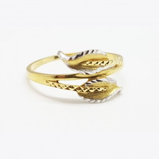 Gold Leaves Ring