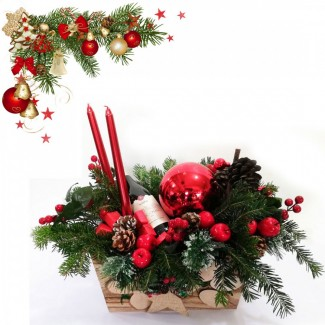 Poinsettia Christmas Arrangement