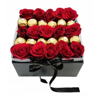 Ferrero and Roses Combination in a Black Box