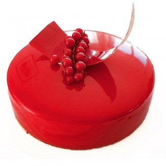 Valentine in Red Cake