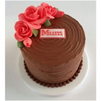 Black and red Mum Cake