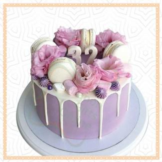 Macaron Purple Cake