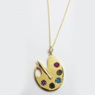 Color Holder Gold Pendant