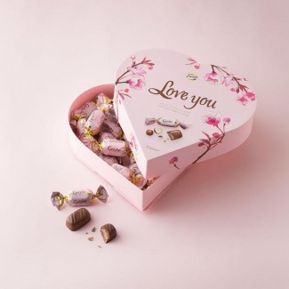 Pink Heart Chocolate Box