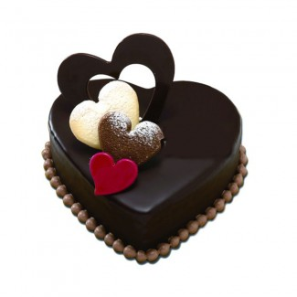 TriColor Heart Cake