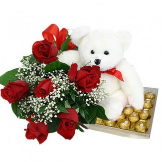 Sweet Valentine Package with Bear