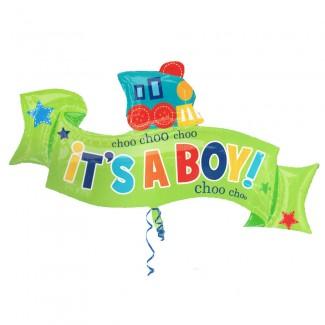 ChooChoo Its A Boy Balloon