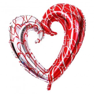 Heart Shaped Foil Double Color XXL Balloon