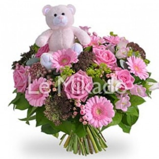 Special new born baby girl bouquet