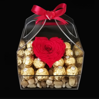 Eternal rose with ferrero