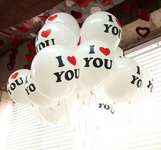 I Love you Flying Balloons