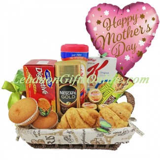 MOM Breakfast Tray with Balloon